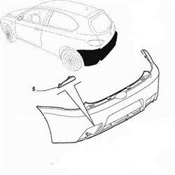 Reflector 147 GTA links achter