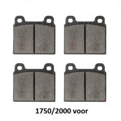 Remblokset 1750/2000 voor OEM kwaliteit