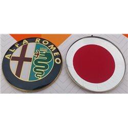 Alfa overzet logo 74mm voor/achter