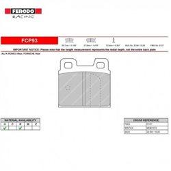 Ferodo DS 2500 remblokset achter