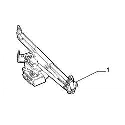 Ruitenwissermechaniek+motor 166 + regensensor
