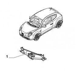 Ruitenwissermechaniek+motor MiTo