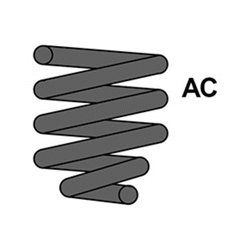 Spiraal veer 166 2.4JTD/ 3.2V6 voor