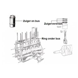 Zuiger en bus 2000 Nord carburateur