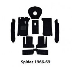Tapijtset Spider 1966-69 zwart velours