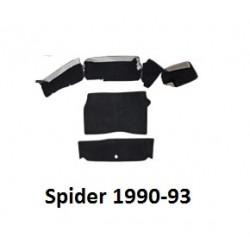 Tapijtset Spider 1990-93 kofferbak zwart