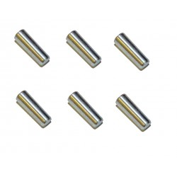 Krukasstopje set aluminium 6mm (6 stuks)