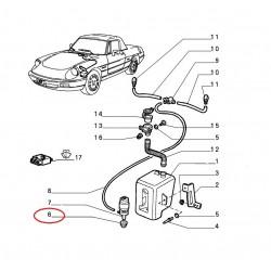 Rubber ruitenwissermotor/tankje Spider 4