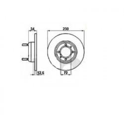 Remschijf Giulietta / 75 VOOR diameter: 250mm